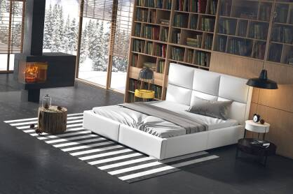 Upholstered bed Domenico