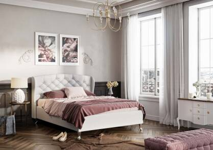 Upholstered bed Camilla S