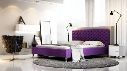 Upholstered bed Giovanna