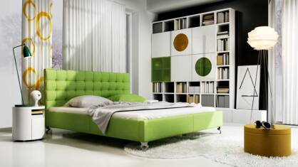 Upholstered bed Gioia